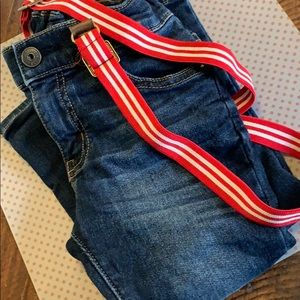Adorable Jeans with Suspenders